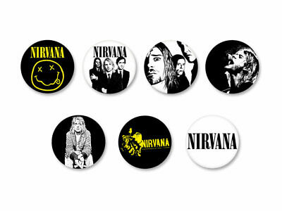 Lot Pack Badge Button Ø25mm Nirvana Grunge USA Kurt Cobain