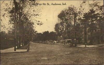 Anderson IN West 8th St. c1910 Postcard rpx