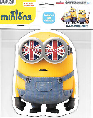 Minions Movie The Minion Invasion (British) Large Car Magnet, NEW UNUSED #B583