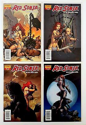 Red Sonja She-Devil With A Sword Lot Of 4 Comics #10 A B C D Variant (Vf/nm)