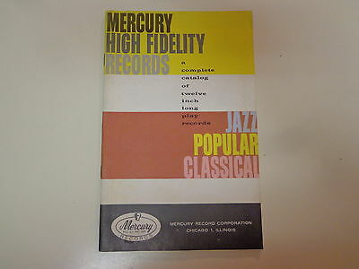 Mercury High Fidelity Records 12' Inch Records Discography 1950's Catalog
