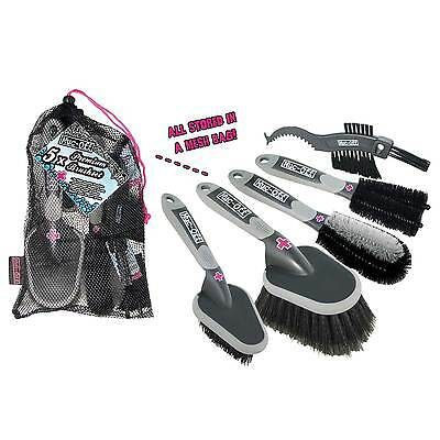 Muc Off 5 Brush Cleaning Set Supplied In A Mesh Bag MTB, Road Bike