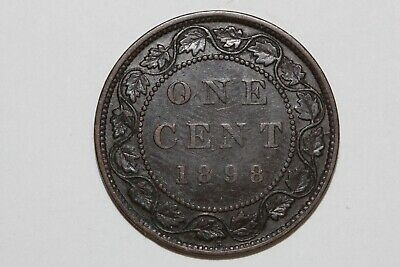 Fast Shipping On An 1898 Canada One Cent Piece That Grades Extra Fine (CA550)