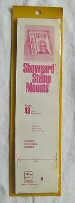 Showgard Stamp Mounts Size 48 Clear 8 strips 1980's NOS