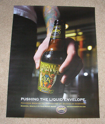 FOUNDERS BREWING Cool Poster CENTENNIAL IPA Label Art craft beer brewery