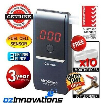 Navy Andatech Alcosense Verity Personal Fuel Cell Alcohol Tester Breathalyser