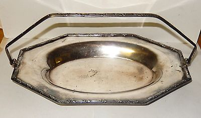 Old Solid Sterling Silver Basket Tray With Handle $600.00 Silver Value