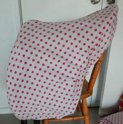 Horse Saddle cover Grey and Pink dots FREE EMBROIDERY Australian Made Protection