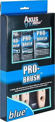 "Axus Decor Blue Pro-Brush 3 Piece Synthetic Paint Brush Set 1 x 1"", 1.5"" and 2"""