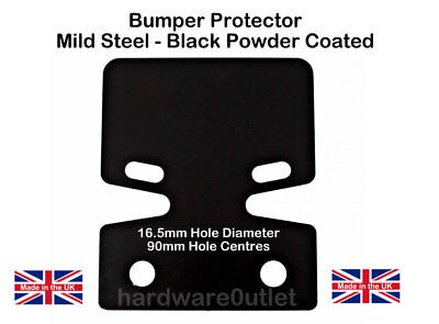 Tow Bar Trailer Bumper Protector 150 x 180 mm  Made in England Powder Coated