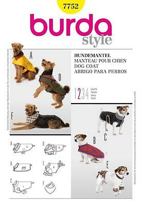Burda Sewing Pattern Dog Coats Easy  7752 A