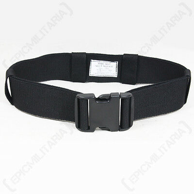 Quick Release Army Belt Colour Option - Military Trouser Tactical Canvas Webbing