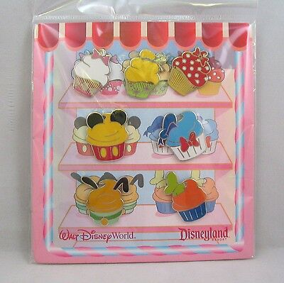Disney Trading Pins CUPCAKES Very Very Delicious !  Sealed Booster Set of 7