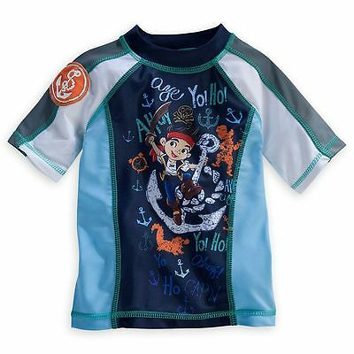 Disney Store Jake And The Never Land Pirates Rash Guard Swim Shirt Boy Size 5/6