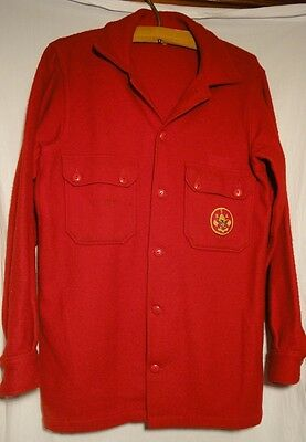 Vintage Official Boy Scouts of America Red Wool Jacket Size 40