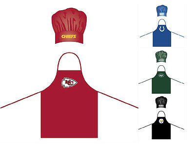 NFL Barbecue Tailgating Team Apron & Chefs Hat Set