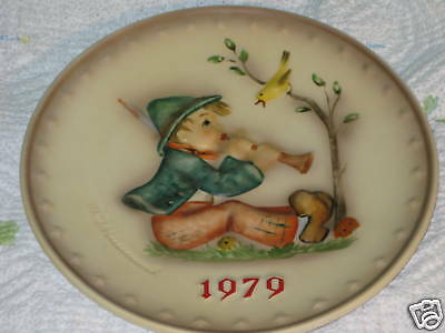 "Hummel 1979 Annual Plate ""Singing Lesson"" Hum 272"