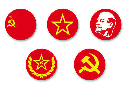 Lot Pack Badge Button Ø25mm URSS Soviet Union Soviétique Communiste