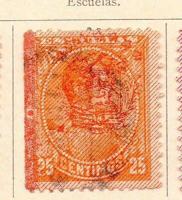 Venezuela 1893 Early Issue Fine Used 25c. Optd 151118