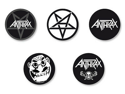 Lot Pack Badge Button Ø25mm Anthrax Thrash Metal US