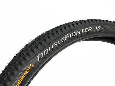 Continental Double Fighter III Rigid Tyre in Black