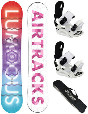 AIRTRACKS Damen Snowboard Set: Luminous Lady+Bindung+Bag+Pad/140 145 150 155 cm/