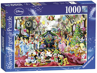 Ravensburger Weihnachts Puzzle*1000 T*disney All Aboard For Christmas*rarität
