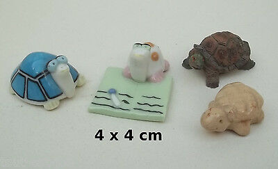 famille de 4 tortues pour, collection,vitrine,animal,turtle,  G16-04