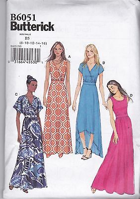 Butterick Easy Sewing Pattern Misses' Pullover Dress  8 - 24 B6051