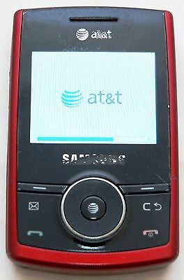 Samsung SGH-A767 Propel Slider Phone RED AT&T bluetooth GPS qwerty keyboard -C-