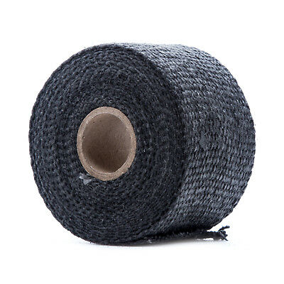 "Thermo Tec 11154 Exhaust Insulating Black Wrap 2/"" Wide 15ft"