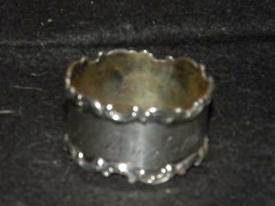 Antique Sterling Silver Napkin Ring Scroll Design By Wallace