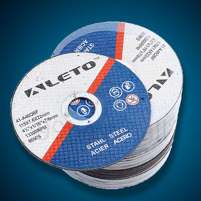 """50 x 115mm 4.5"""" THIN METAL CUTTING BLADE DISC FOR STEEL & STAINLESS FOR GRINDER"""