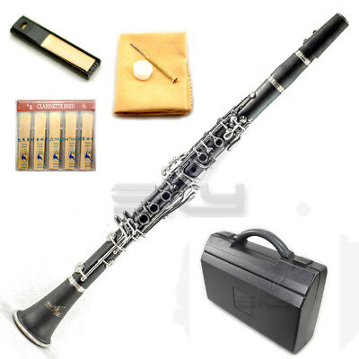 New High Quality Bb Ebonite Clarinet Package German Style Nickle Silver Keys