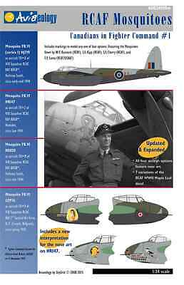 RCAF Mosquitoes of 418 Sqn + Stencils – 1/24 scale Aviaeology Decals 'n Docs