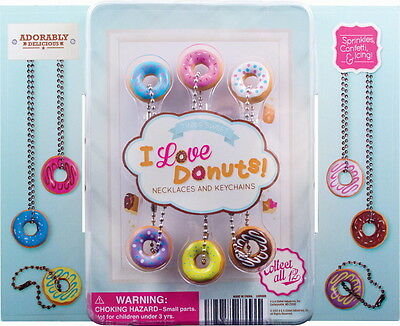 24 I Love Donuts Keychains And Necklaces Key Chains Hottest New Item Fast Ship!