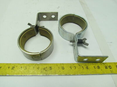 Stainless Steel Pipe Tube Clamp Style Hanger for 2-3/4OD Right Angle Lot of 2