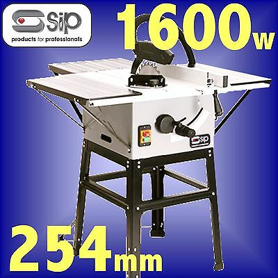 SIP 01930 240v 2Hp 250mm 10 inch Table Saw & Stand bench circular rip sawbench