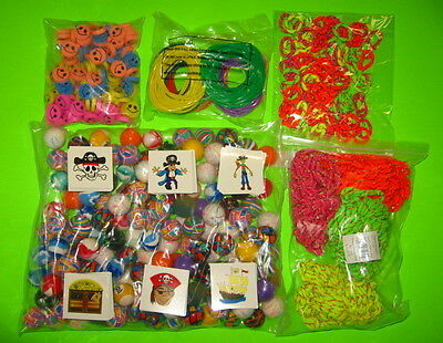 864 Toys 6 Gross Superballs Jelly Bracelets Pirate Tattoos Carnival Party Prizes