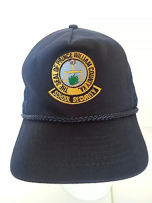 School Security / Prince William County Virginia Ball Cap Hat / Vintage