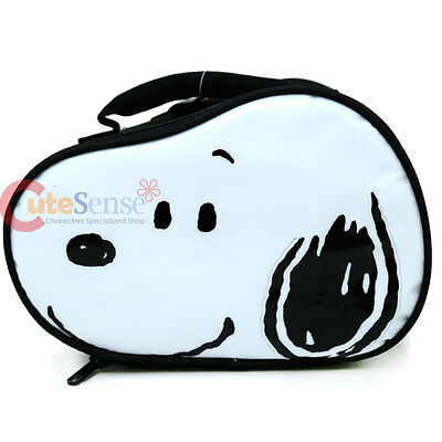 Peanuts Snoopy Face Die Cut School Lunch Box Insulated Snack Bag