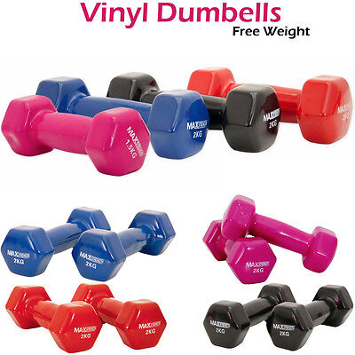 24466877190 Vinyl Dumbbell Set Weights Ladies Training Aerobic Strength Training Gym  Home