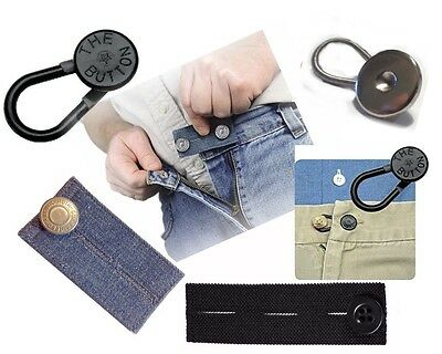 4 WAIST EXTENDERS - Four Type for Button type Pant, Jeans and Skirts Men Women