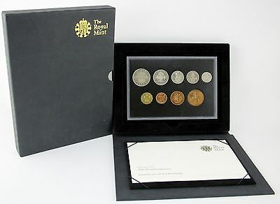 Royal Mint 1950 proof set 9 coins half crown to farthing Certified