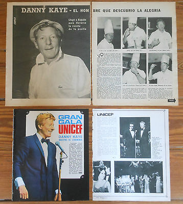 DANNY KAYE spanish clippings 1960s photos vintage magazine