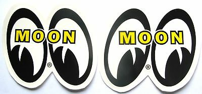 """Mooneyes 4"""" Tall Decals Hot Rat Rod Sticker Muscle Car Drag Race Genuine Moon"""