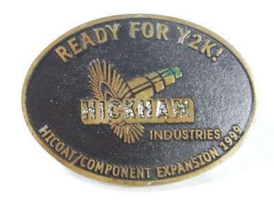 Hickman Industries PDVSA GE 7701 1st St Nozzle Belt Buckle By Dyna Buckle 7615