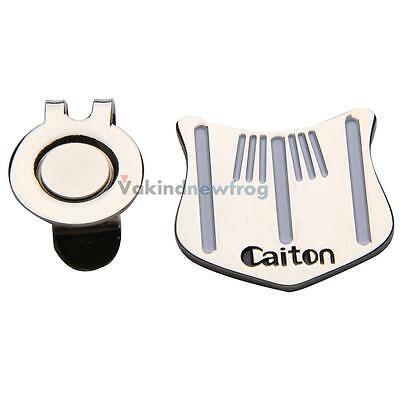 NEW Golf Putting Alignment Aiming Tool Ball Marker with Magnetic Hat Clip