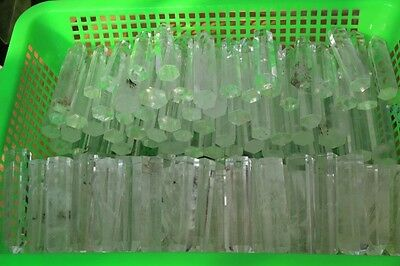 WHOLESALE PRICE !1000g (2.2lb) CLEAR SMELT QUARTZ CRYSTAL WAND POINT HEALING