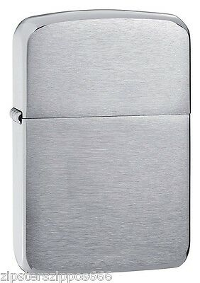 1941 Replica Vintage Brushed Chrome Zippo Lighter